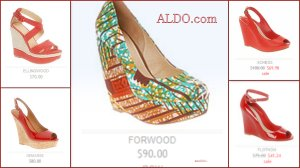 Aldo Red Wedges