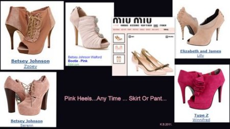 Pink Heels Skirts Or Pants.