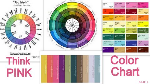 Think Pink Color Chart Wheel
