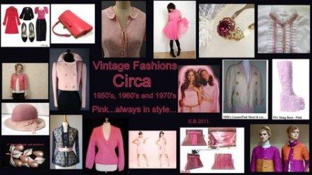 Vintage Pink, 1950's, 1960's, 1970's.