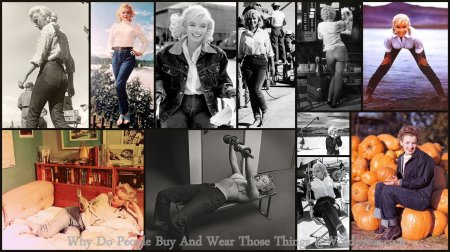 Marilyn Monroe Wearing Blue Jeans.