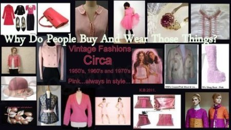 Vintage Pink Fashions Worn Today.