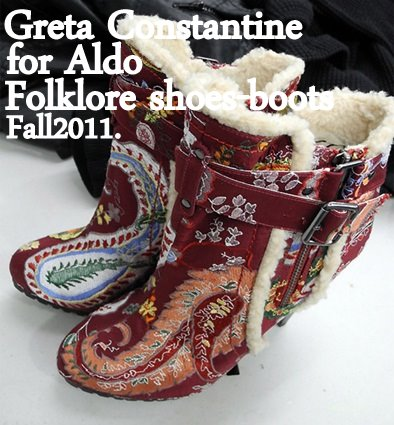 Greta Constantine Fall 2011 for Aldo Folklore shoe boot.
