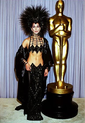 Cher in Bob Mackie at the Academy Awards